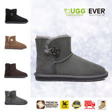 s grey ankle ugg boots ugg mini wool ankle boots sheepskin button black brown grey