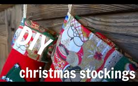 Homemade Christmas Stockings by Diy Christmas Stocking Youtube