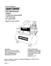 craftsman 5hp 20 gallon air compressor manual ac gallery air