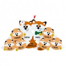 fox family of 8 ornament personalized ornaments for you