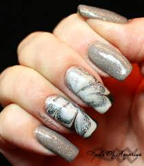 cat on the moon watermarble glow in the dark halloween nail art