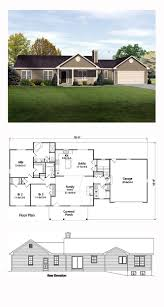 clever design one level house floor plans with front porch 9 small