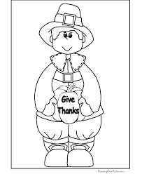 kid thanksgiving coloring pages print 004