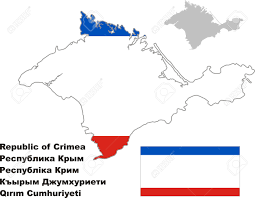Blank Map Of Russia by Outline Map Of Crimea With Flag Regions Of Russia Vector