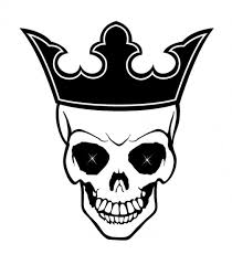 king skull with crown vector free