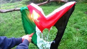Flag Of Jerusalem Burning The Palestinian Flag In Support Of Jerusalem Hd Youtube