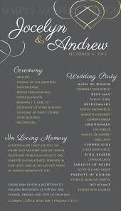 in memory of wedding program i like how they use 2 different colors for the text and how the