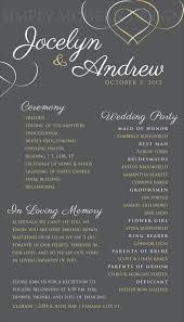 simple wedding ceremony program wedding ceremony program wedding signage reception