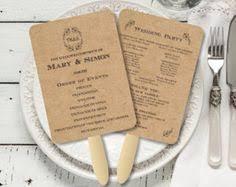 diy wedding program fans template modern rustic diy wedding program fan template program fan