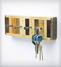 4 hook reclaimed wood key holder home decor six finger studios