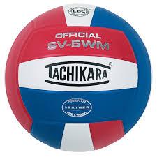 amazon com tachikara full grain leather volleyball blu white
