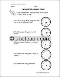 all worksheets clock word problems worksheets printable