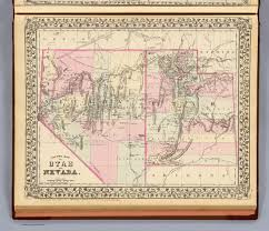 Nevada County Map Utah Nevada David Rumsey Historical Map Collection