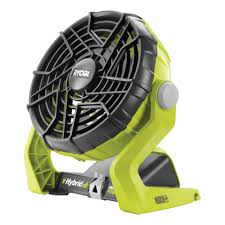 ryobi fan and battery 18v one hybrid workshop fan r18hf 0 ryobi tools
