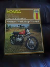 honda xr 75 dirt bikes owners workshop manual mervyn bleach john