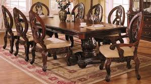 Formal Dining Table by Formal Dining Room Decor Dark Brown Finishing Long Wooden Dining