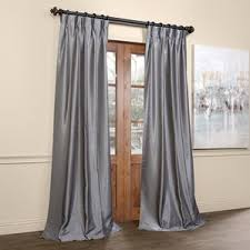 Pinch Pleat Patio Door Panel Pinch Pleated Drapes U0026 Curtains Wayfair