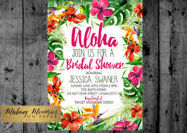 couples shower invitations etsy hawaiian luau watercolor baby shower bridal shower couples