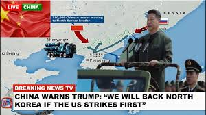 china warns trump u201cwe will back north korea if the us strikes