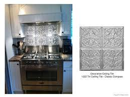 Tin Backsplashes For Kitchens Bathroom Stove Backsplash Kitchen Tile Designs In Metal