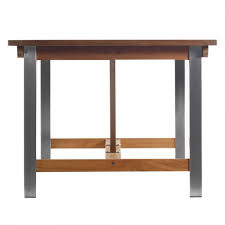 Outdoor Tables And Benches Siro Teak And Stainless Steel Outdoor Expandable Table With