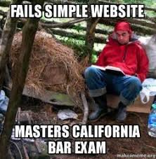 Fail Meme - fails simple website masters california bar exam make a meme