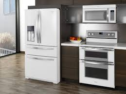 endearing painted white kitchen cabinets with appliances exitallergy