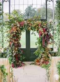 wedding arches ireland fall wedding at ballyfin house honey of a thousand flowers
