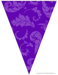 Purple Flag Free Graduation Party Flag Decorations Printable Party Kits