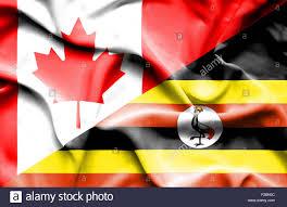 Images Of Uganda Flag Waving Flag Of Uganda And Canada Stock Photo Royalty Free Image