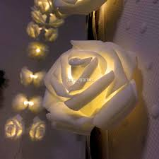 Rose Lights String by Byb 20 Warm White Led String Battery Operated Rose Butterfly Fairy
