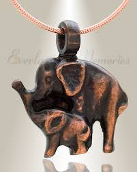 pet ashes necklace elephants ashes jewelry animal memorial necklaces for