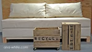 How To Make A Platform Bed From A Regular Bed by Ana White Storage Sofa Diy Projects