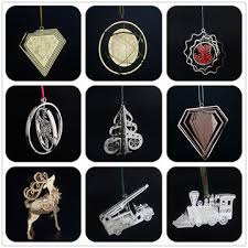 china laser cut 3d metal for tree hanging ornament