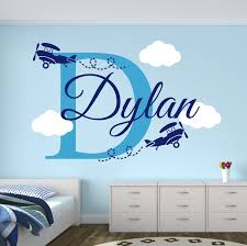 compare prices on airplane names online shopping buy low price custom boys name airplane clouds decal nursery decor kids room decor vinyl wall sticker airplanes
