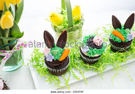 Decorating Easter Chocolate Cupcakes by Easter Chocolate Cupcakes Decorated Piggy Stock Photos U0026 Easter