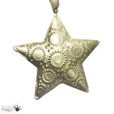 gisela graham christmas gold tin heart tree star swirls hanging