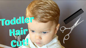 cutting boy hair with scissors how to cut toddler boy hair youtube