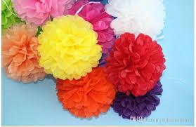 Yellow Pom Pom Flowers - zh01 4inch tissue paper pom poms flower balls display flower