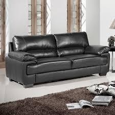 Black Leather Sofa Collection - Chelsea leather sofa