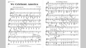 we celebrate america musick8 singles reproducible kit
