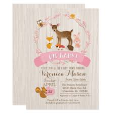 Baby Woodland Animals Baby Shower - animal baby shower invitations u0026 announcements zazzle