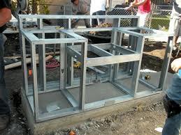 Building Outdoor Kitchen With Metal Studs - 540 best summer outdoor kitchen images on pinterest outdoor