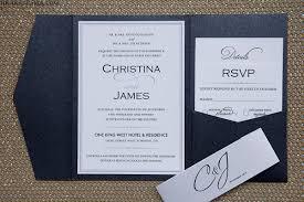 Ruby Anniversary Invitation Cards Classic Black Wedding Invitation Pocket Holder With Insert Cards