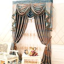retro style curtains with delicate patterns of chenille