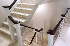 Contemporary Banisters And Handrails Diy Cable Railing System Stainless Cable Railing