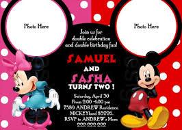 mickey and minnie party invitations oxsvitation com