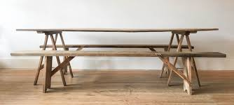 Vineyard Bench Pitch Pine Table With Vineyard Benches U2013 Gild And Co