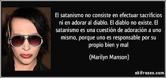 imagenes satanicas de marilyn manson el satanismo no consiste en efectuar sacrificios ni en adorar al