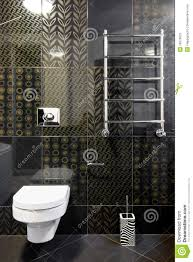 New Toilet Room In Black Colors Stock Image Image 10073601